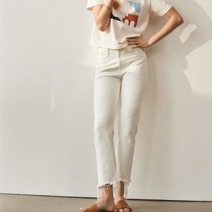 Madewell Perfect Summer Jean in White 26